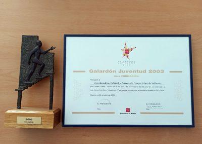 Galardón Juventud 2003